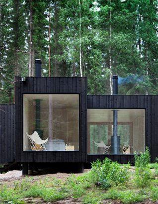 bardage bois brule 40 maisons pour s