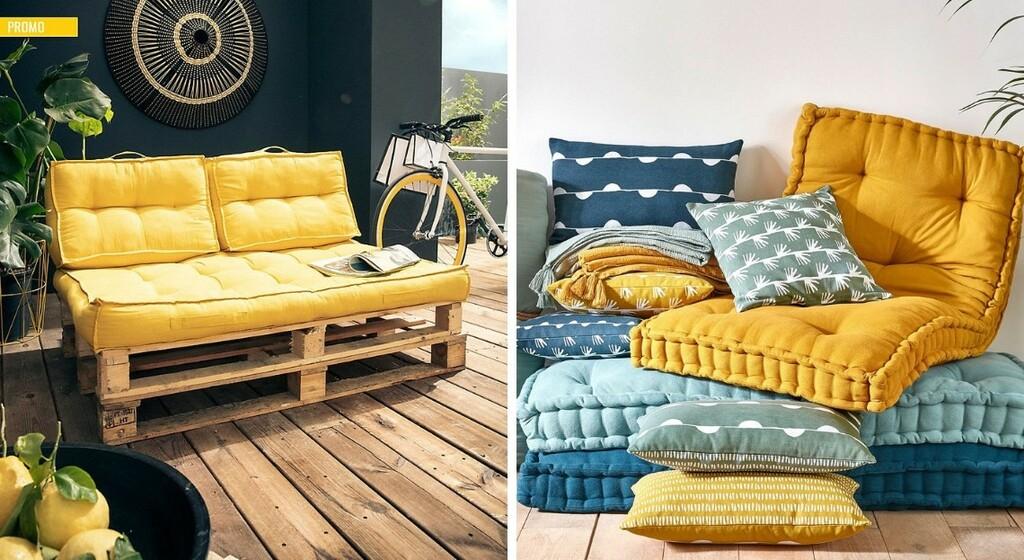 12 coussins pour des palettes confortables