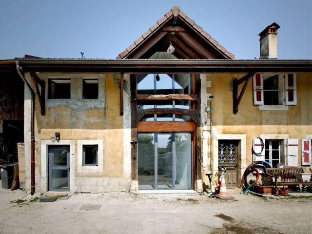 Une Vieille Grange Transforme En Maison