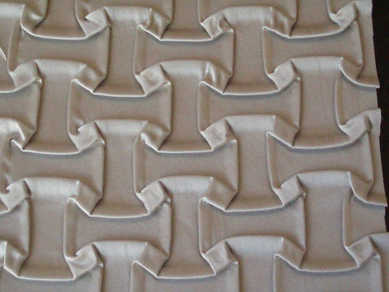 cardboard manufactured pleat K028R created by Barbagli Pleating Factory