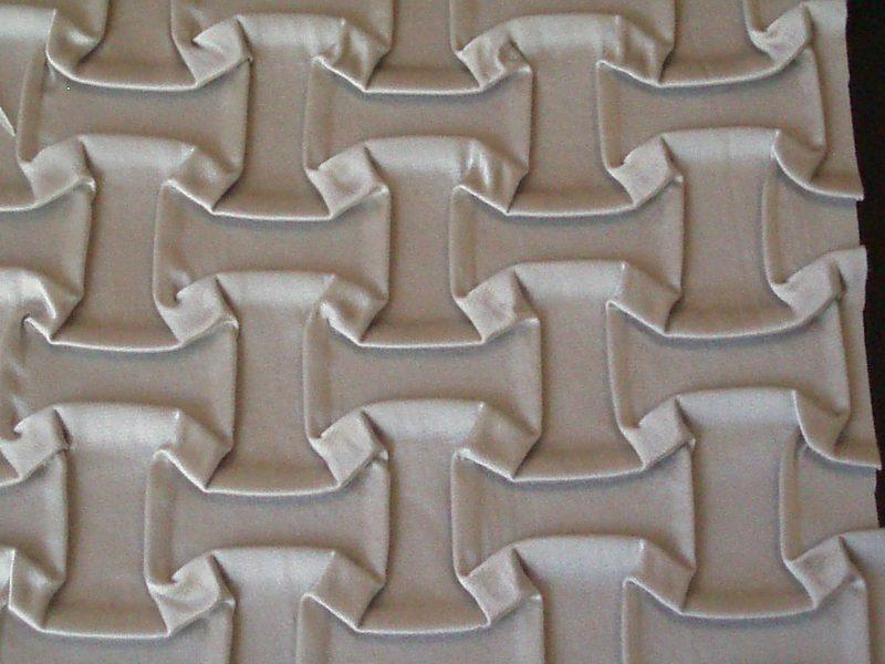 cuero plisado, procesamiento de tejidos