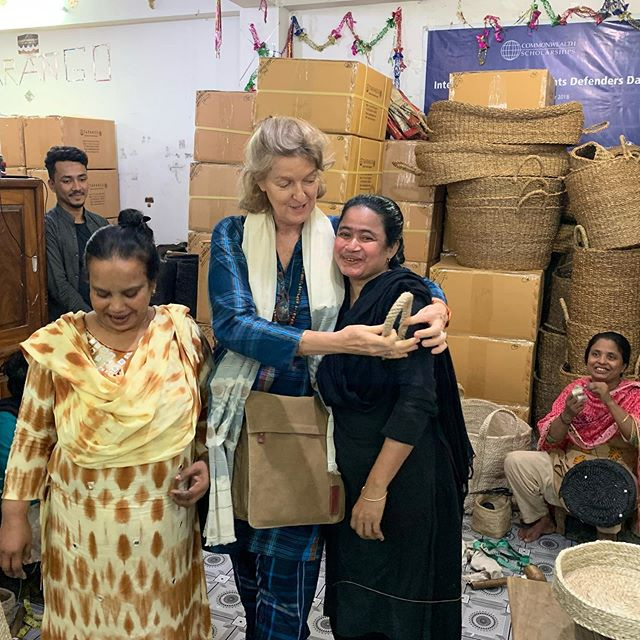 Sisterhood - due to the increase in worldwide demand for jute and hogla products, we now have over 4,500 women  in Bangladesh earning a fair wage
