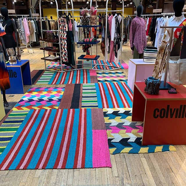 So thrilled to be part of @colville_official exclusive pop up in @libertylondon from March 2nd to March 22nd - handmade jute rugs by @maisonbengal - a project curated by @tomorrowcrew