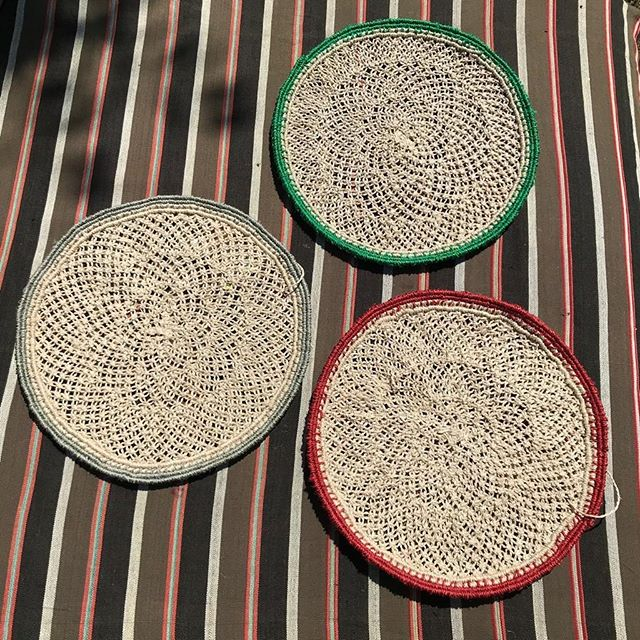New in - pick n'mix jute macramé sustainable placemats