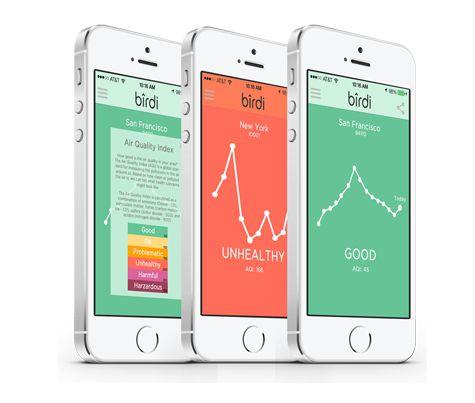 L'application du détecteur de fumée connecté Birdi sur iPhone