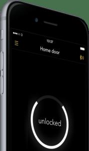 Interface de l'application smartphone de la serrure connectée Noki