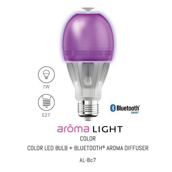 Ampoule connectée color diffuseur d'huiles essentielles Aromalight Awox AL-BC7: Caractéristiques