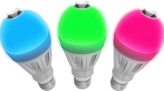 Quelques couleurs de l'Ampoule connectée color diffuseur d'huiles essentielles Aromalight Awox AL-BC7: Caractéristiques