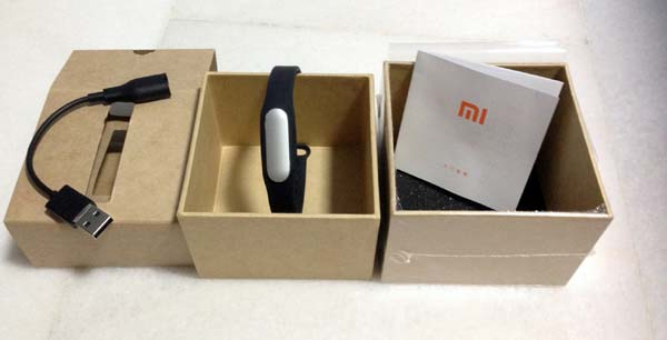 Packaging du bracelet connecté Xiaomi Mi Band