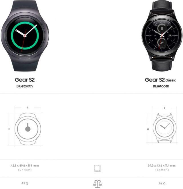 Samsung Gear S2 et la Gear S2 classic