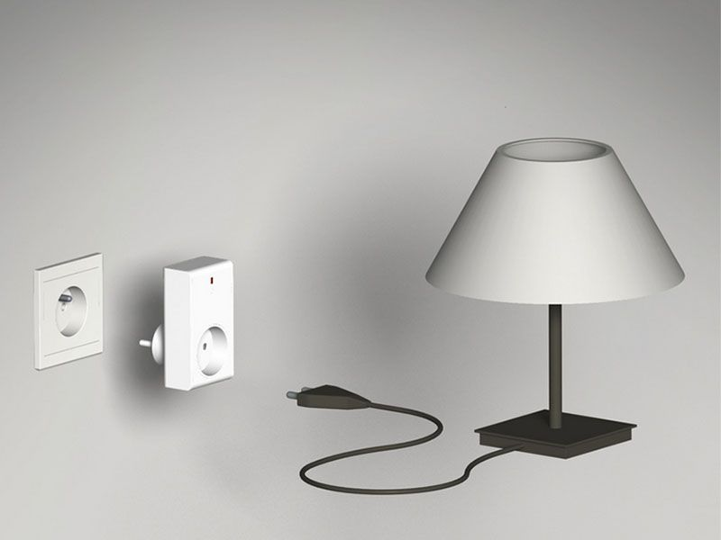 Avec la Prise radio 3500W DI-O vous pouvez allumer et éteindre vos lampes ou appareils électriques à distance depuis votre mobile ou un ordinateur ou chez vous depuis une télécommande