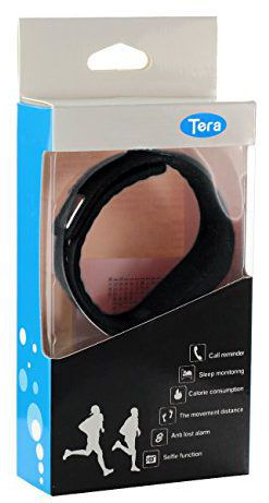 Le bracelet connecté Tera TW64 dans son emballage