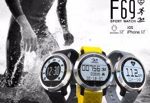 Makibes F69 Montre intelligente IP68 Fitness moniteur de fréquence cardiaque et natation pour IOS Android - Smartwatch-montre connectée étanche