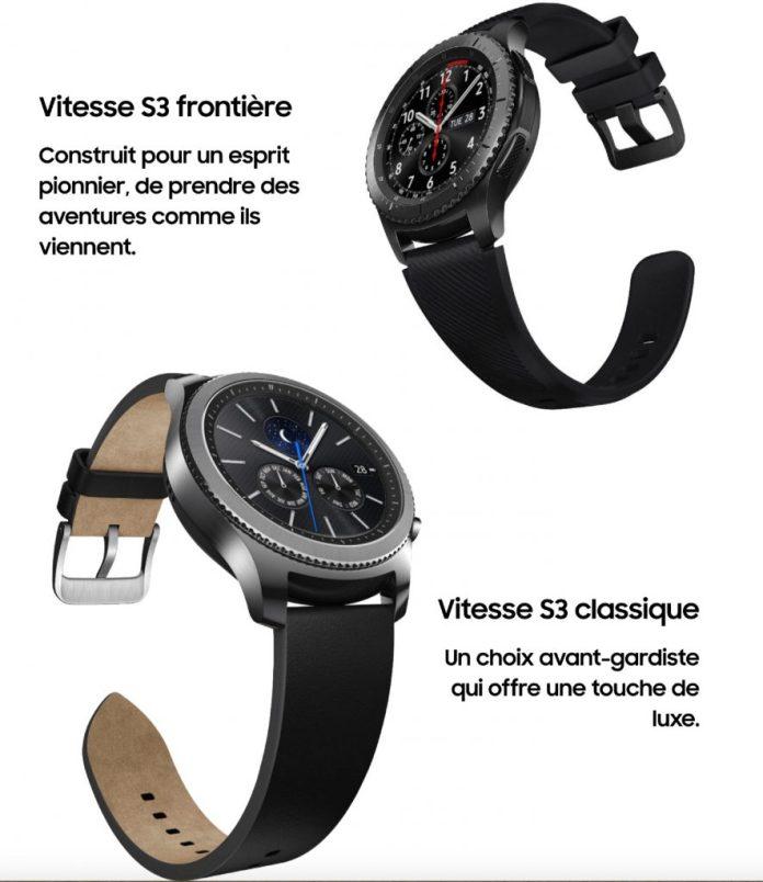 montre Samsung Gear S3 classic-frontier