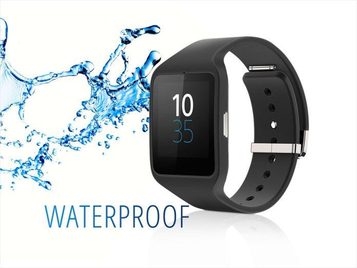 La smart watch 3 Sony SWR50 est une montre connectée waterproof avec un indice de protection IP68