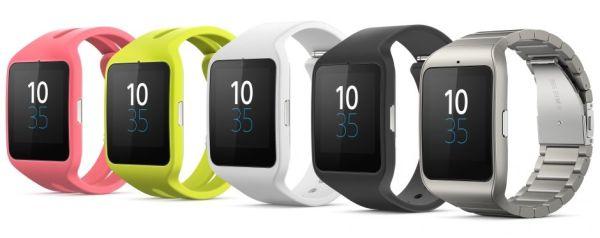 Les couleurs de la smart watch 3 Sony SWR50