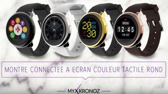 MyKronoz ZeRound montre connectee a ecran couleur tactile rond