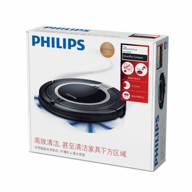 l'aspirateur robot Philips FC8710.01 dans sa boîte