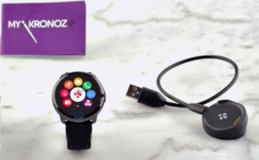 Montre connectée MyKronoz ZeRound Noir. Montre multifonctions heure-Podomètre-Mesure la distance-Calcule des calories brûlées
