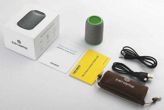 contenu de la boite enceintes-portables-zenbre m4-sans-fil-bluetooth