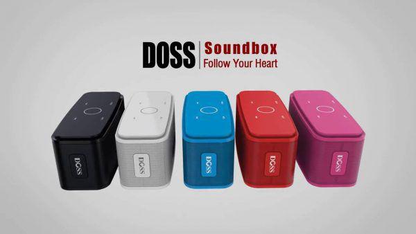 enceinte bluetooth doss soundbox étanche offre un son puissant