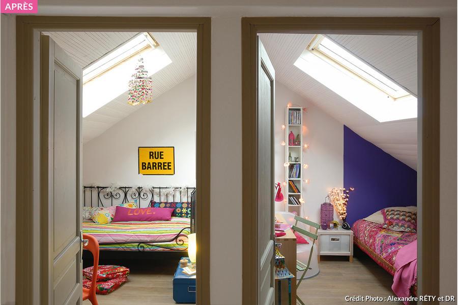 combles chambre sous les toits