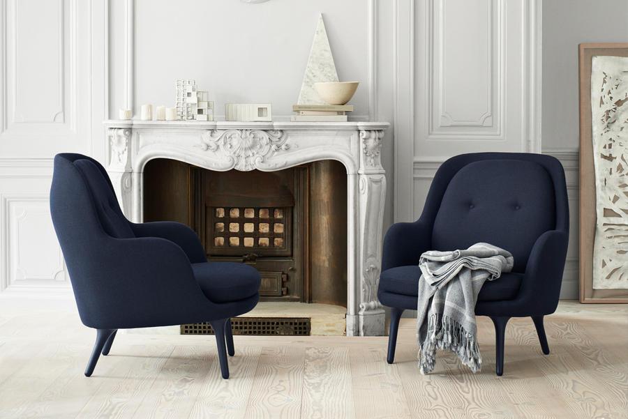 m decoration bleu salon fauteuil fritz hansen jpg