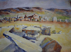 Tiwanaku,-aquarelle-d'Eduardo Conde
