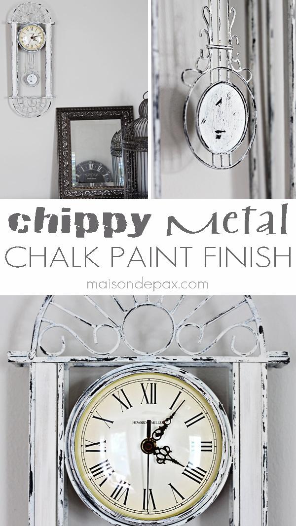 Chippy Metal Finish Tutorial Maison De Pax