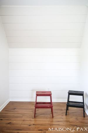 How to Plank a Wall  DIY Shiplap    Maison de Pax How to Plank a Wall  excellent tutorial on getting that diy shiplap look