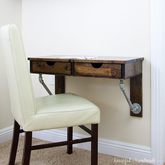 rustic industrial DIY desk