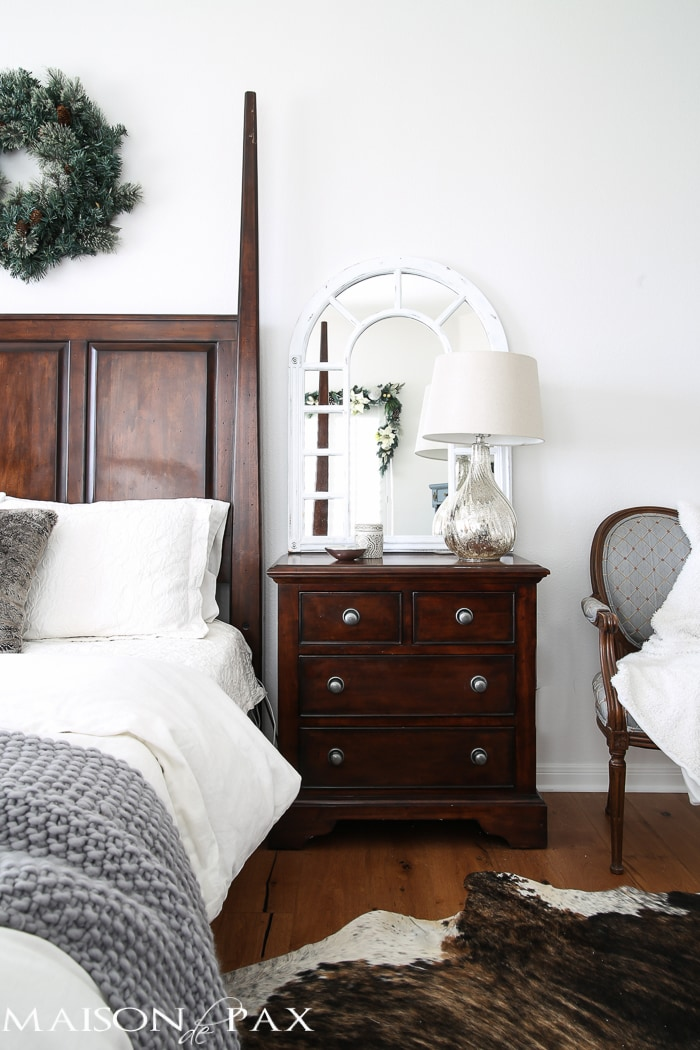 White Christmas Master Bedroom Maison De Pax