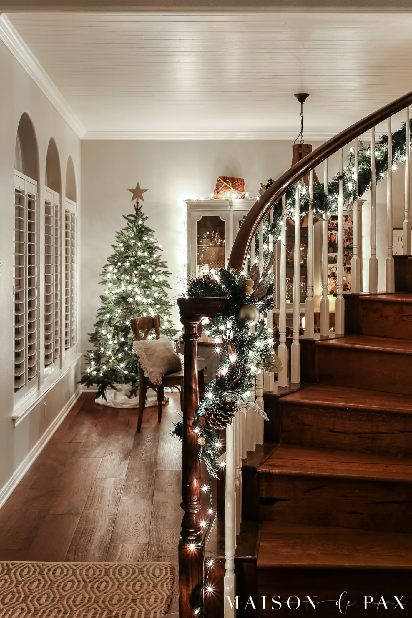 Christmas Lights At Night Holiday Home Tour Maison De Pax