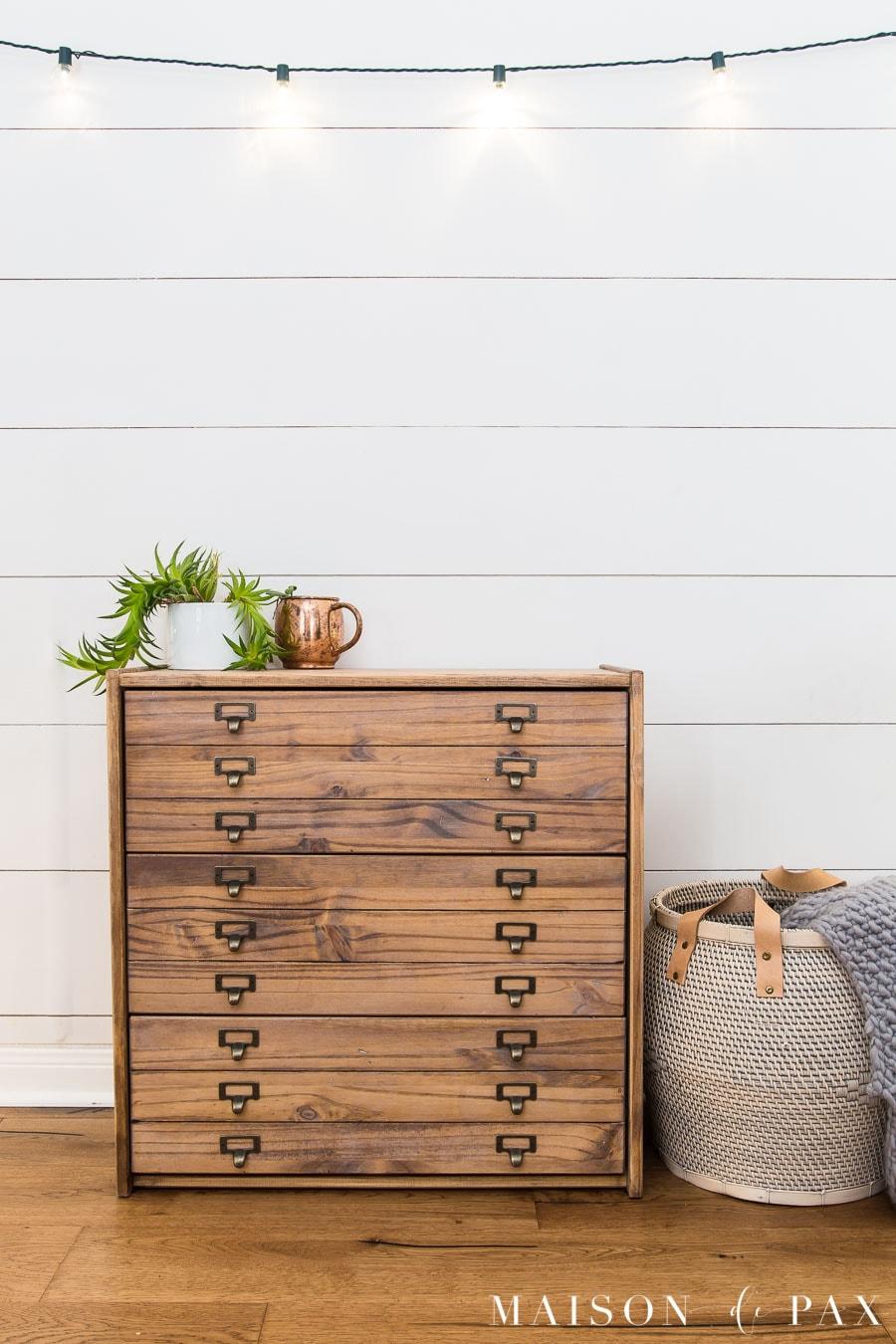 Diy Antique Printers Cabinet Ikea Hack Maison De Pax