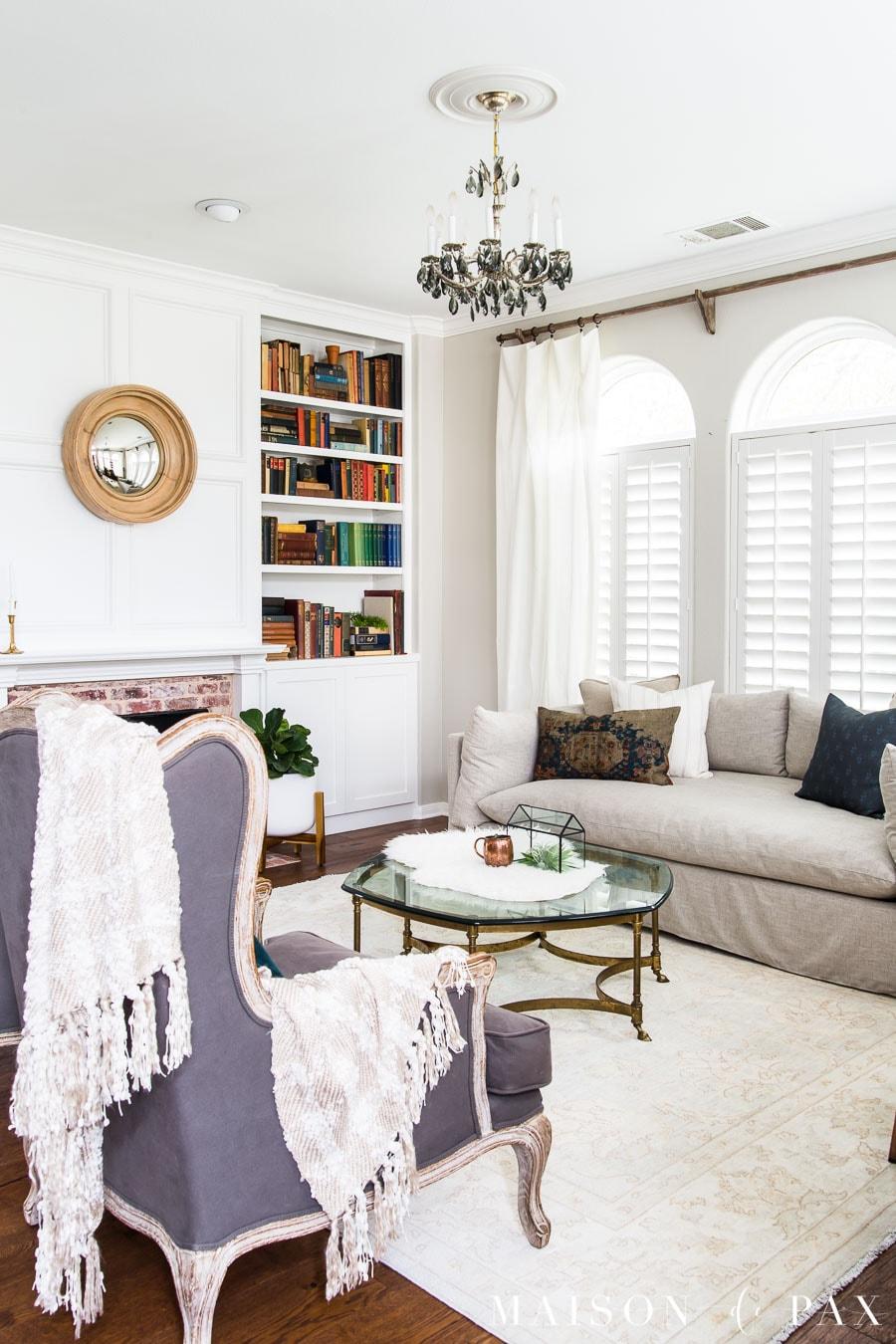 Neutral Living Room Makeover Maison De Pax