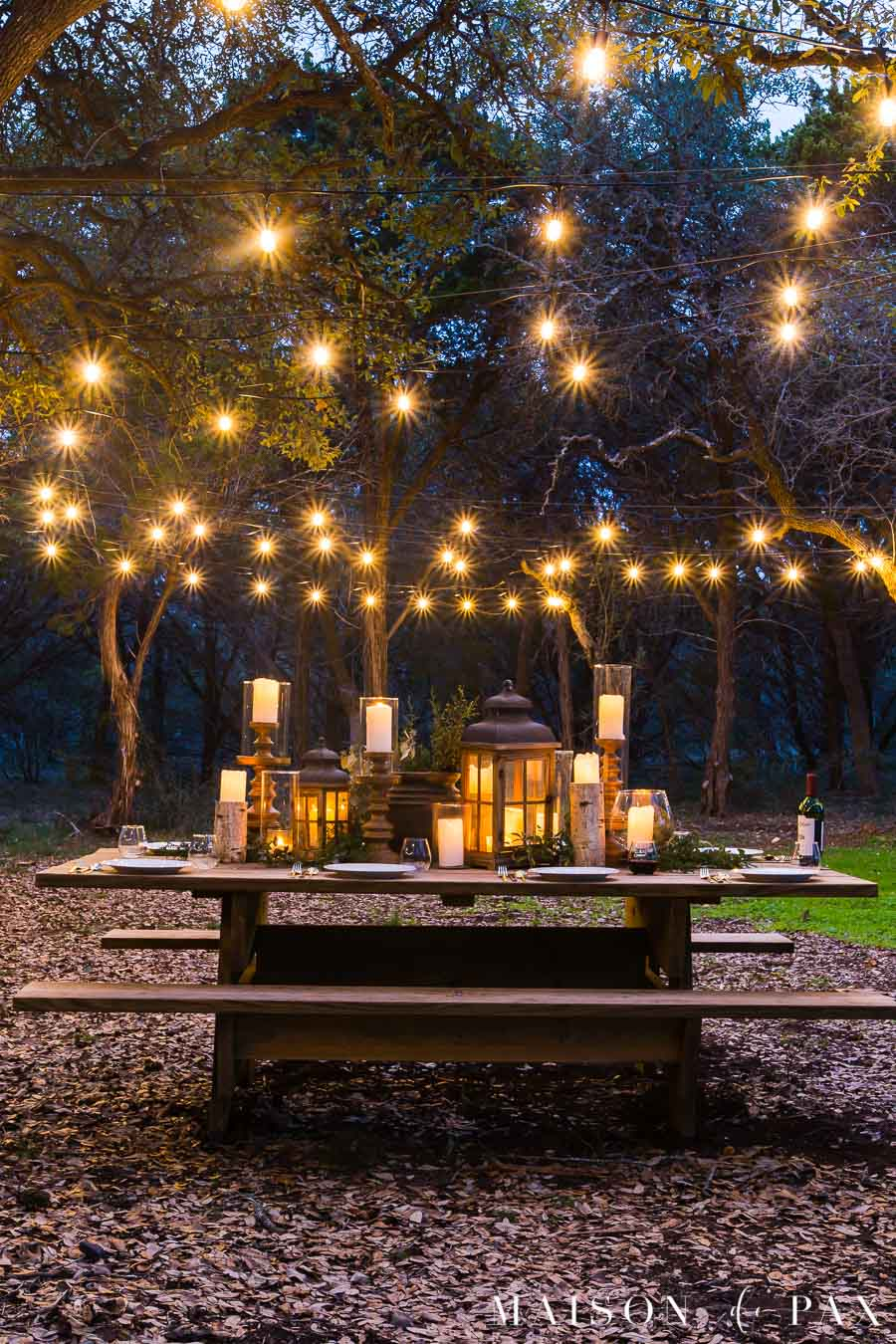 rustic outdoor dining space reveal
