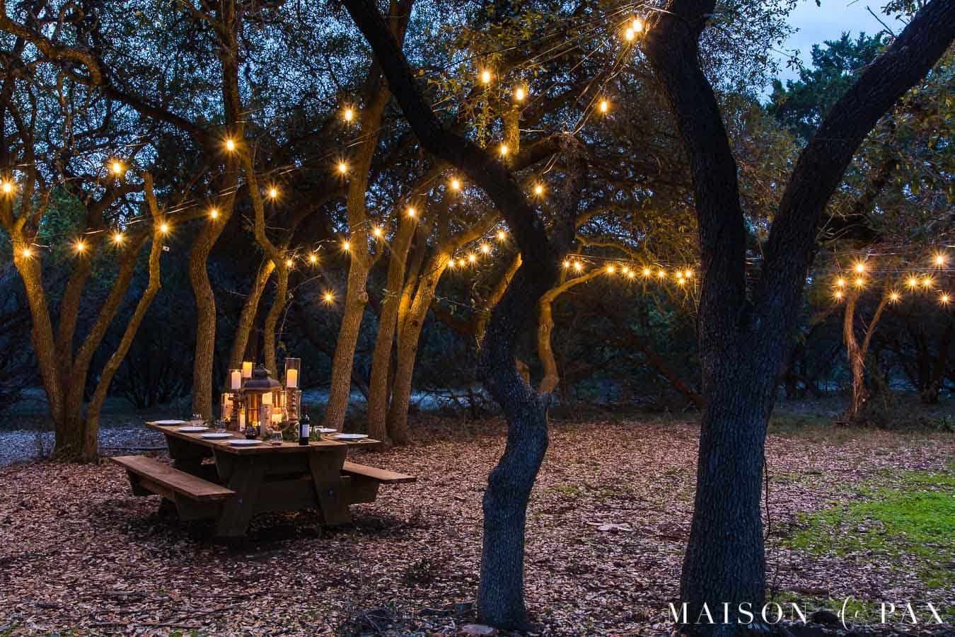 How To Hang Outdoor String Lights Maison De Pax