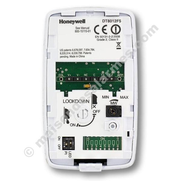 DÉTECTEUR DOUBLE TECHNOLOGIE HONEYWELL DT8012F5 (boitier ouvert)