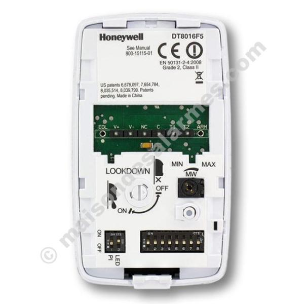 DÉTECTEUR DOUBLE TECHNOLOGIE HONEYWELL DT8016F5 (boitier ouvert)