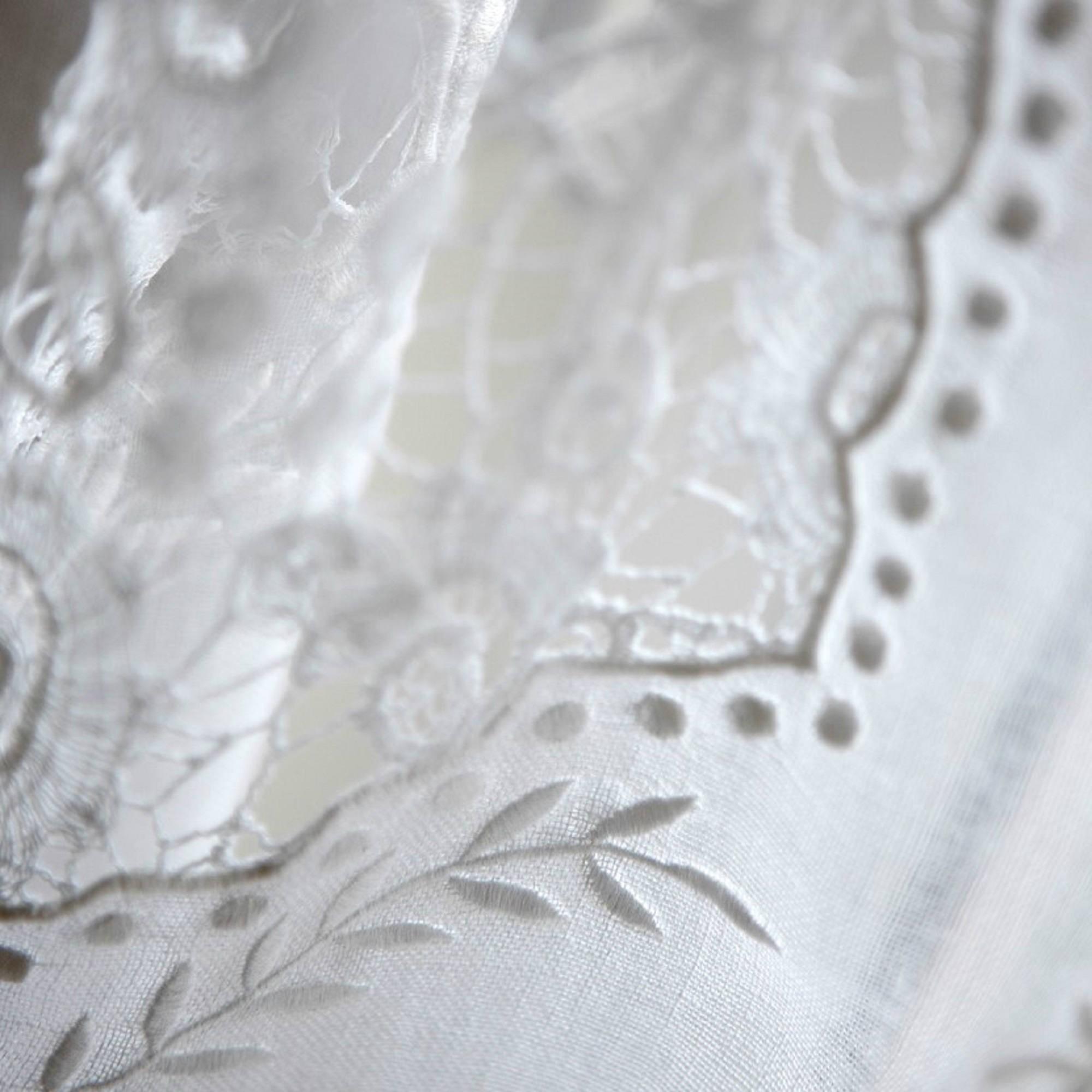 Rideau Nantes Blanc En Gaze De Lin Maison Dt