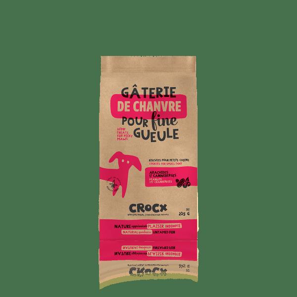 Mini gâteries pour chiens Crocx aux Arachides