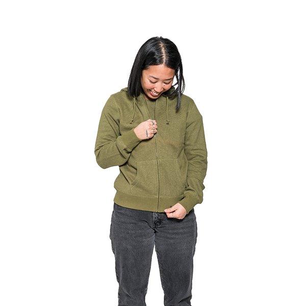 Hoodie de chanvre pour femme vert
