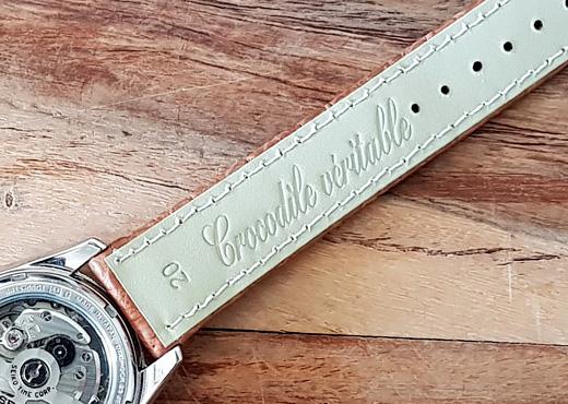 bracelet de montre en alligator couleur noir