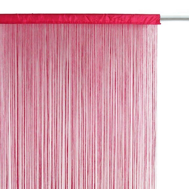 rideau fil 90x200cm framboise