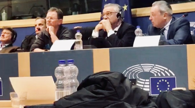 Intervention de Thomas Pfeiffer au Parlement de Bruxelles