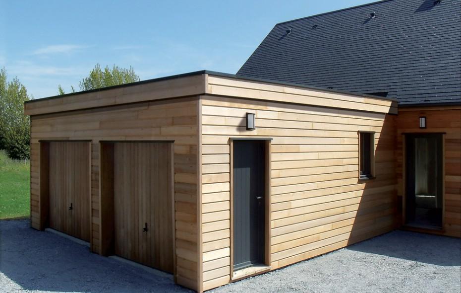 Garage Bois Construit En Ossature Bois Fabrication Francaise