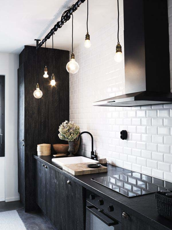 bulb lighting in cucina