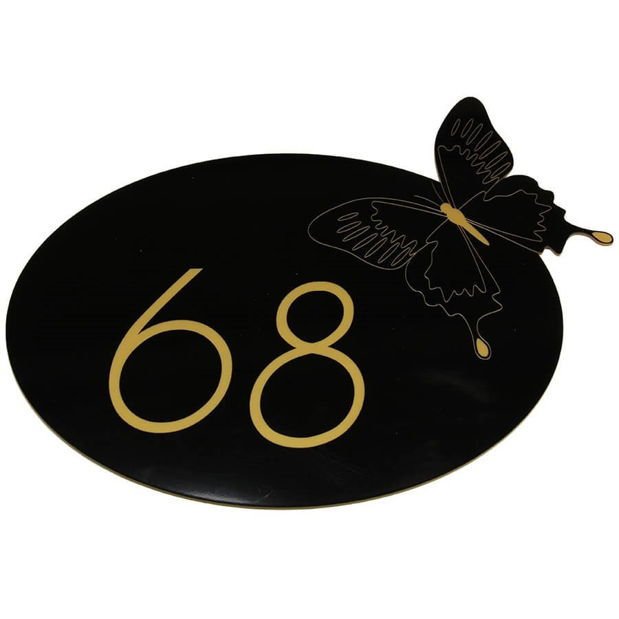 plaque numero de maison personnalisee originale papillon