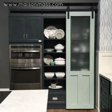 sliding door, rail, window pane, kitchen, pantry