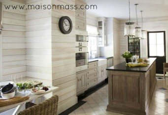 planked walls, wood walls, paneling, shiplap, MDF board, kitchen